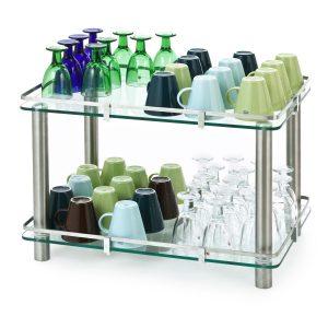 Glass og koppstativer